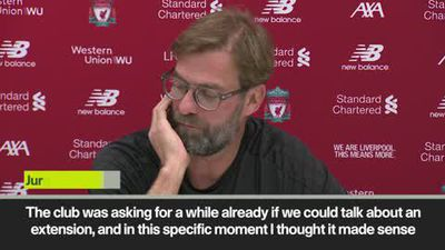 Klopp happy to sign a new contract with Liverpool 'on a bad weather day'