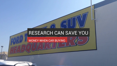 Research Can Save You Money When Car Buying