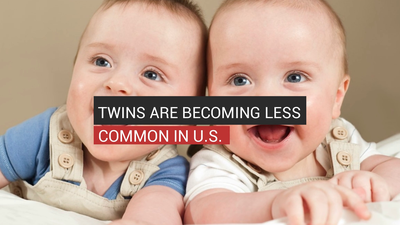 Twins Are Becoming Less Common In U.S.
