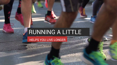 Running A Little Helps You Live Longer