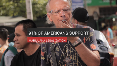 91% Of Americans Support Marijuana Legalization