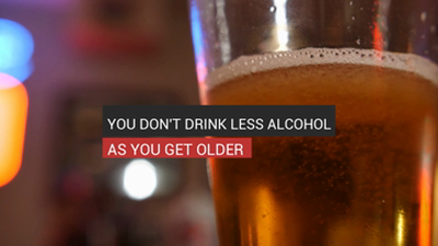 You Don't Drink Less Alcohol As You Get Older
