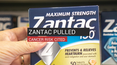 Zantac Pulled Cancer Risk Cited