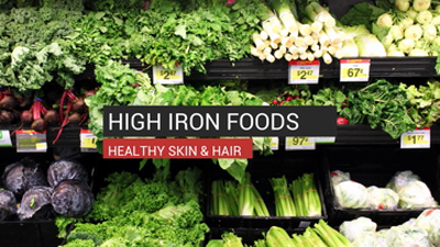 High Iron Foods Make Healthy Skin & Hair
