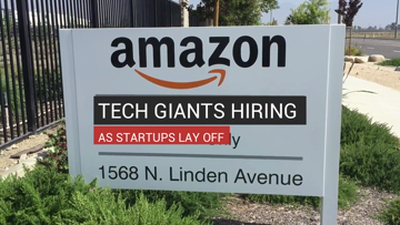 Tech Giants Hiring As Startups Lay Off