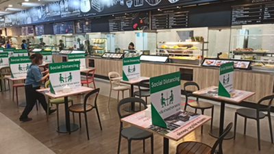 Thailand Mall Food Court Social Distancing