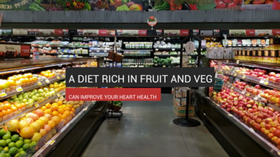 Diet rich in fruit & veg can improve heart health