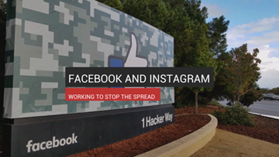 Facebook and Instagram Working to Stop the Spread