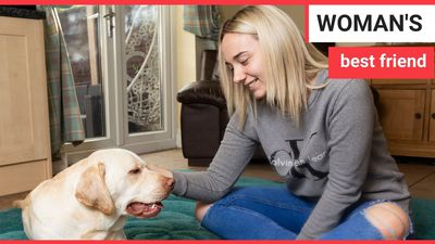 A young woman who suffers up to 100 seizures A DAY has revealed she's regularly rescued by her dog -