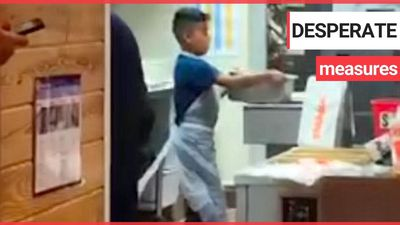 "A child who appears to be ""about eight or nine-years-old"" was filmed WORKING IN THE KITCHEN of a bra"