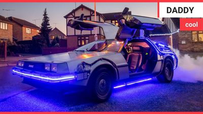 Back to the Future superfan restores DeLorean for 80k - and uses it to drop his kids off to school