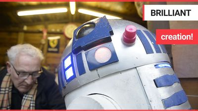 A movie extra and Star Wars mega-fan has celebrated the new blockbuster by unveiling an ultra-realis