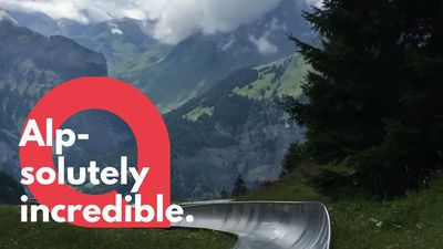 Breathtaking rollercoaster ride down Swiss alpine mountain