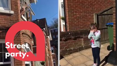 An entire street sang Happy Birthday to a little girl stuck in isolation