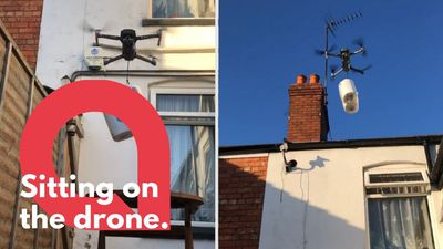 Man uses a drone to deliver toilet roll to his sister