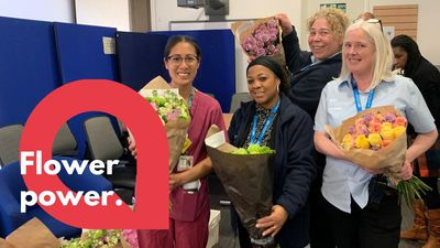 Florist delights nurses with deliveries of 50,000 flowers