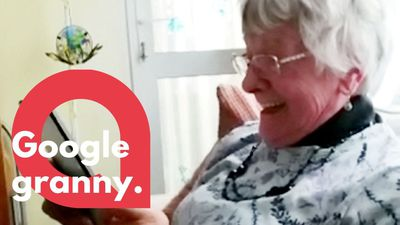 Hilarious moment technophobic grandmother uses voice recognition software