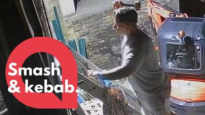 Boozed up bloke broke into his own home to keep his kebab warm