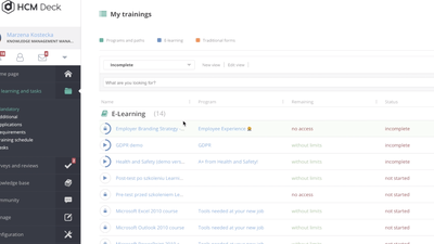 HCMDeck helps you manage learning programs for employees