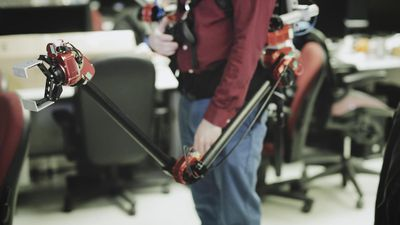 CMU builds a backpack with a robotic arm