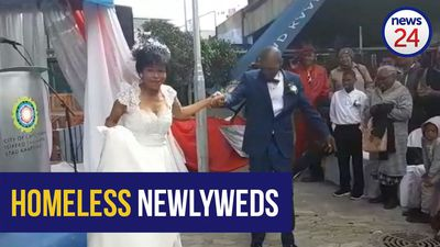 WATCH: 'A fairy-tale day' as homeless couple exchanges wedding vows