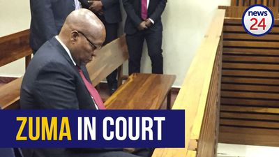 WATCH: Jacob Zuma arrives at court to support son Duduzane