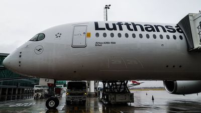 Lufthansa's sparkling new A350 turns heads with new livery in Cape Town