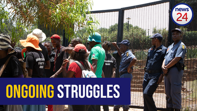 VIDEO: Activists march 80kms from Marikana to Union Buildings demanding compensation for widows