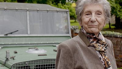 Retired Land Rover employee Dorothy Peters is reunited with Series I Land Rover after 70 years