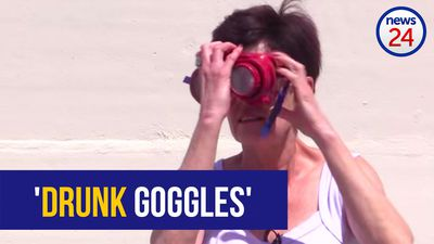 WATCH: We take the 'drunk goggles' test and fail miserably!