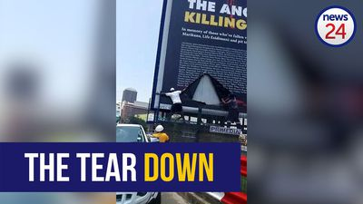 WATCH: Damage to 'The ANC is Killing Us' billboard a criminal act – DA