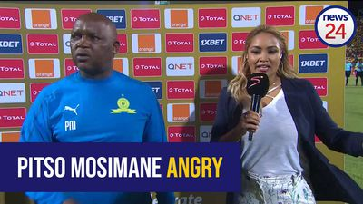 WATCH: Pitso Mosimane blasts Wydad Casablanca players for intimidating the match officials