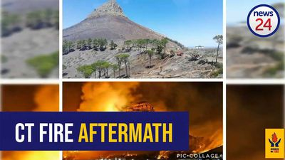 WATCH- Aerial footage shows Lion's Head fire aftermath