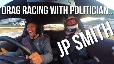 Going drag racing with a politician