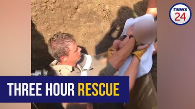 WATCH: Rescuers save newborn baby girl in three-hour operation