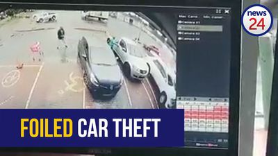 WATCH: Driver catches car thief in the act