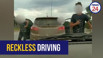WATCH: Erratic driver tries to attack motorist