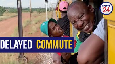 WATCH: Cyril Ramaphosa catches the Monday train blues