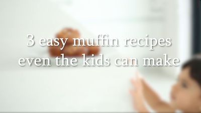 3 easy muffin recipes even the kids can make