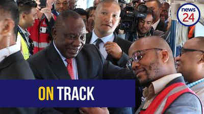 WATCH   True blue: Ramaphosa launches new trains in Cape Town