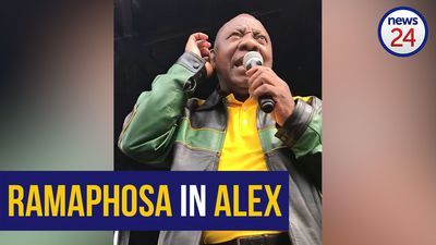 WATCH: Ramaphosa says Mashaba is 'scared' of protesting Alex residents