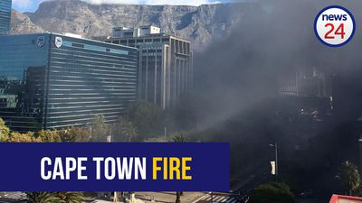 WATCH: Smoke billows from Cape Town train station