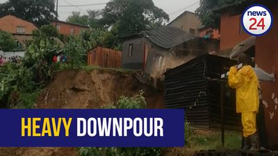 WATCH: Umlazi residents watch in shock as house collapses due to heavy rains