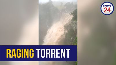 WATCH: Raging waterfall pummels Oribi Gorge after KZN floods