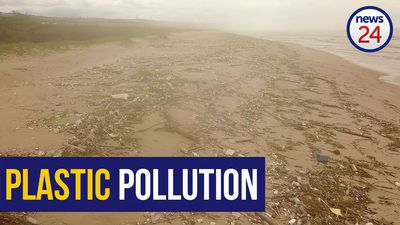 WATCH: Drone footage shows scale of plastic pollution on KZN beaches