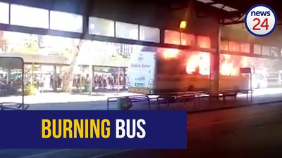 WATCH: Golden Arrow bus engulfed in flames in Cape Town CBD