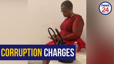 WATCH: eThekwini mayor Zandile Gumede spotted inside holding cell