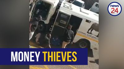 WATCH: Unknown number of armed suspects attack SBV cash-in-transit vehicle