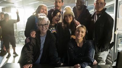 Behind-the-scenes photos from Lucifer season 4