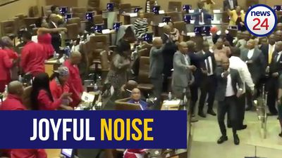 WATCH: Sing-off between ANC and EFF at Gauteng Provincial Legislature